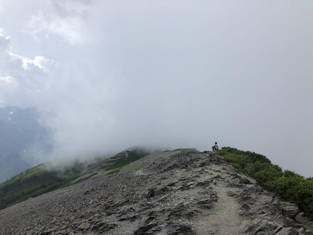 蝶ヶ岳 山頂 展望台