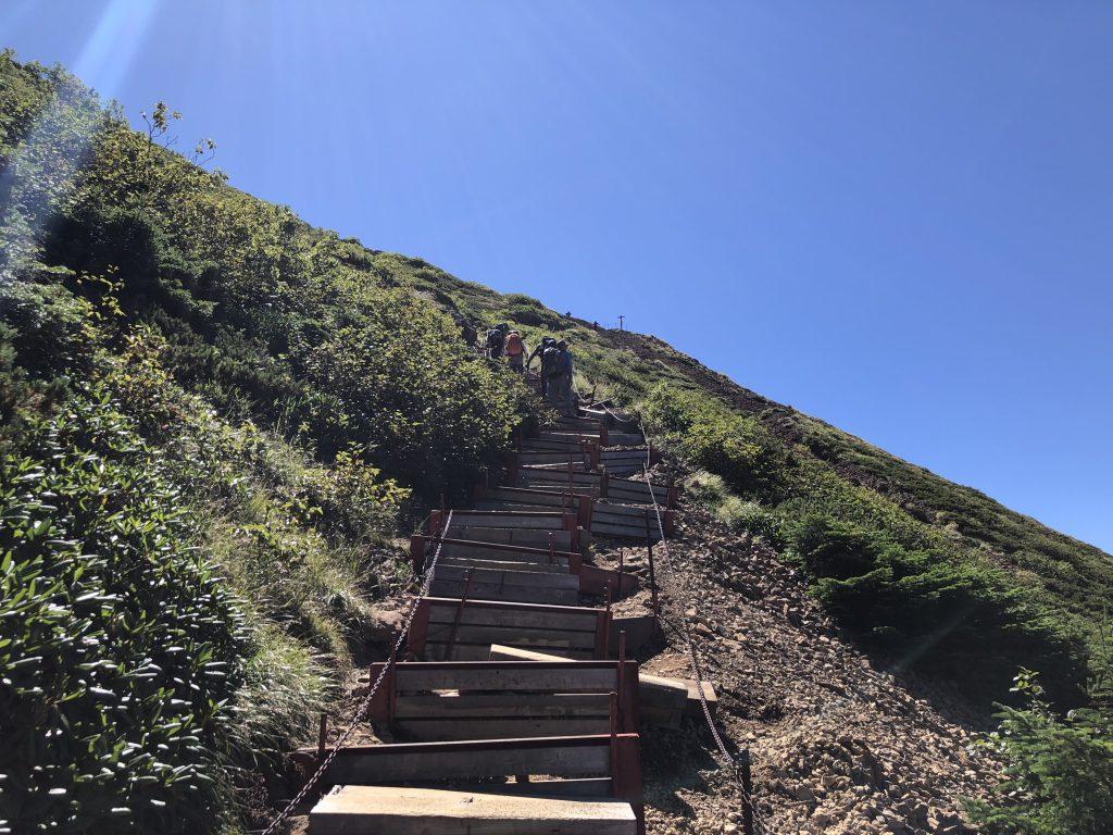 八ヶ岳連峰 赤岳 文三郎尾根 急登