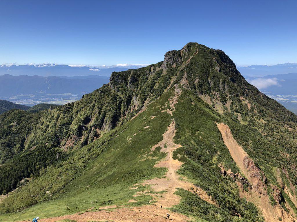 八ヶ岳連峰 赤岳 阿弥陀岳 稜線