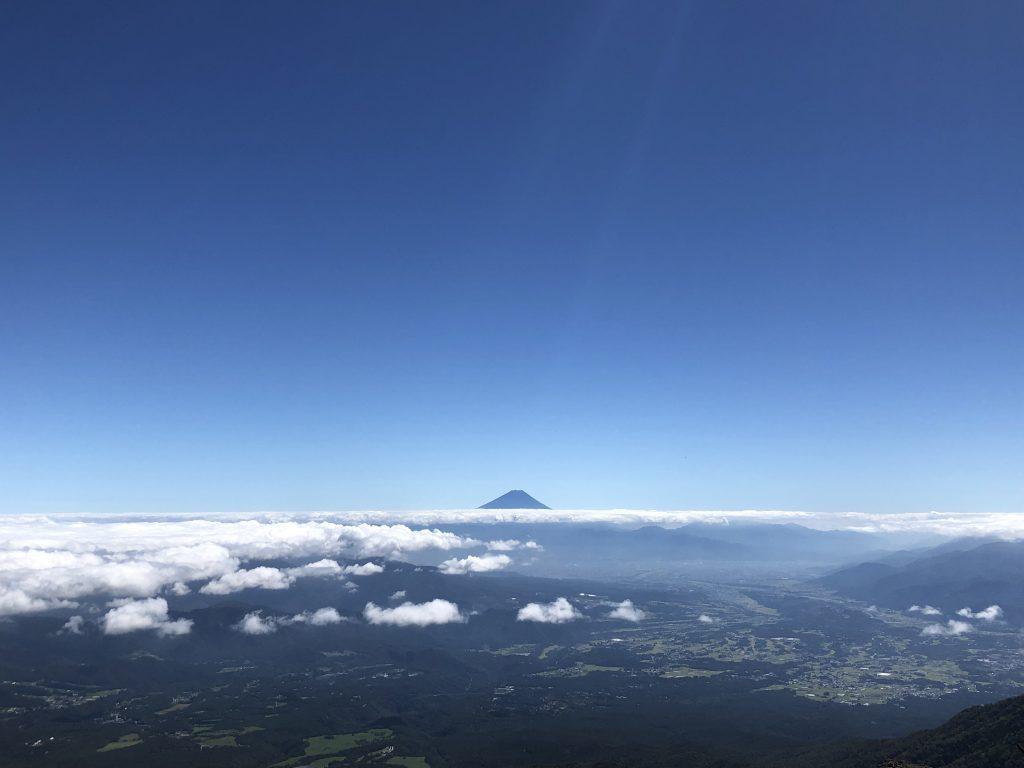 八ヶ岳連峰 赤岳 富士山