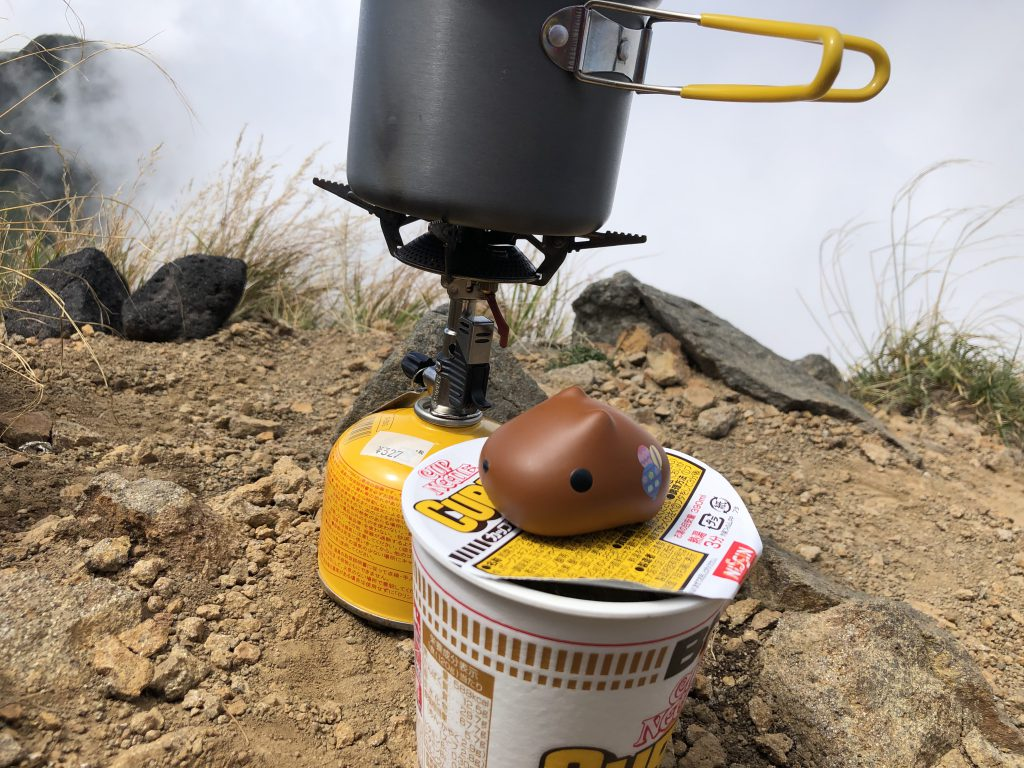 八ヶ岳連峰 赤岳 カッピヌードル